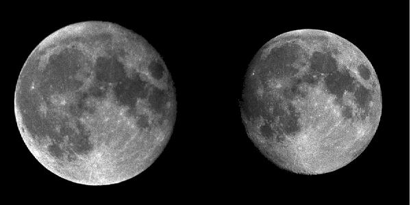 Size Comparison for the Moon at Apogee and Perigee