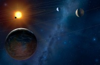 Artists impression of another solar system