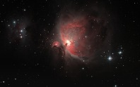 The Orion Nebula as it appears through an expert photo through a telescope